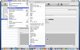 Barcody 3 unterstützt 31 Barcode-Arten
