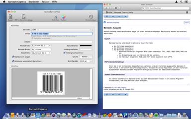 Barcode erzeugen, exportieren oder ins gewünschte Programm ziehen. Fertig.