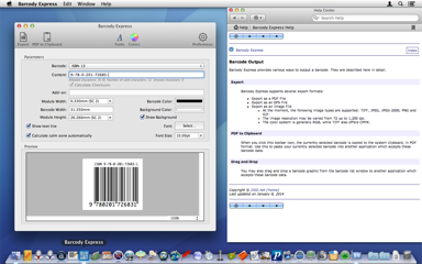 Create a barcode, export or drag into the desired application. Done.