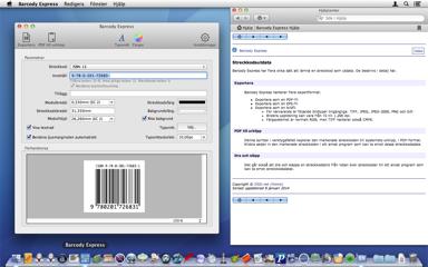 Skapa en streckkod, exportera eller dra till önskat program. Klart.